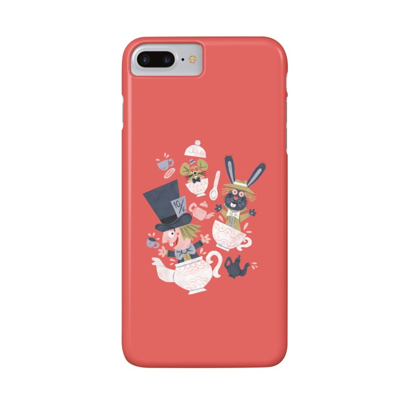 Mad Hatter's Tea Party - Alice in Wonderland Accessories Phone Case by WanderingBert Shirts and stuff