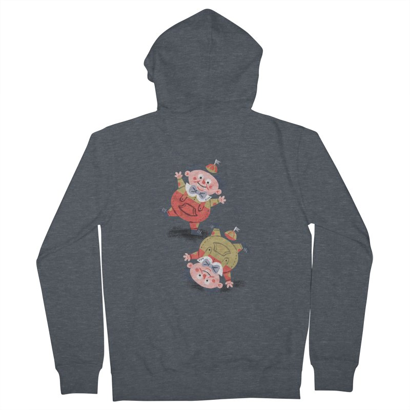 Tweedledum & Tweedledee - Alice in Wonderland Women's Zip-Up Hoody by WanderingBert Shirts and stuff