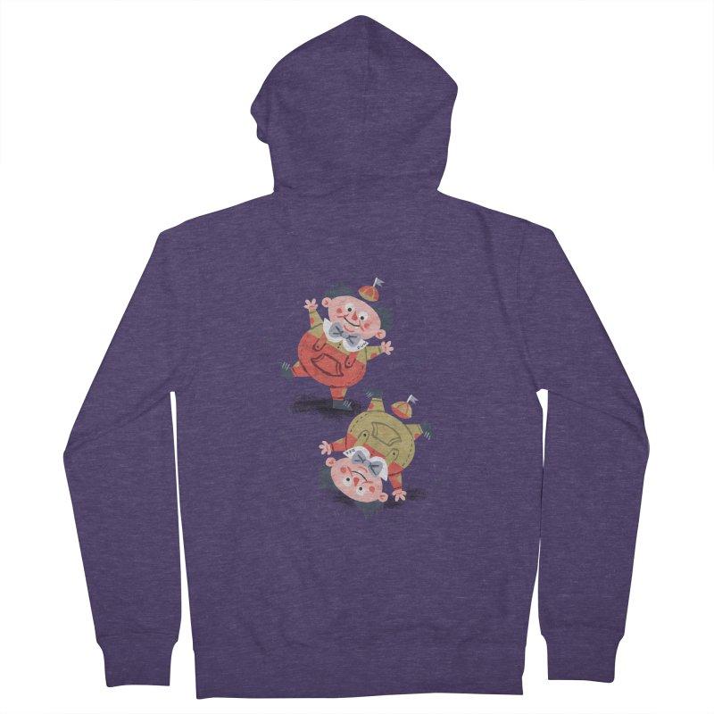 Tweedledum & Tweedledee - Alice in Wonderland Men's Zip-Up Hoody by WanderingBert Shirts and stuff