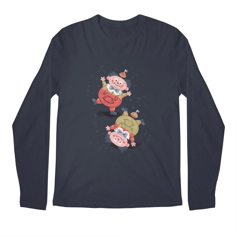 Tweedledum & Tweedledee - Alice in Wonderland Men's Longsleeve T-Shirt by WanderingBert Shirts and stuff