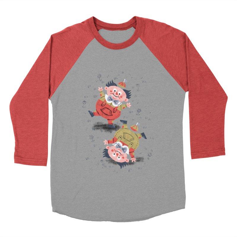 Tweedledum & Tweedledee - Alice in Wonderland Men's Baseball Triblend T-Shirt by WanderingBert Shirts and stuff