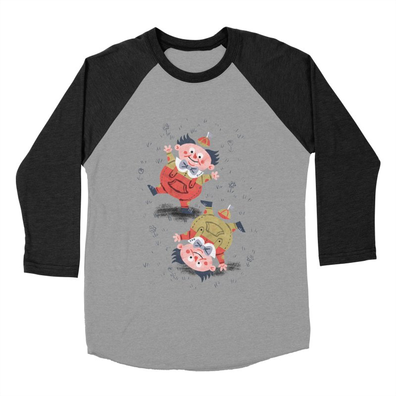 Tweedledum & Tweedledee - Alice in Wonderland Men's Baseball Triblend T-Shirt by WanderingBert Shirts and stuff