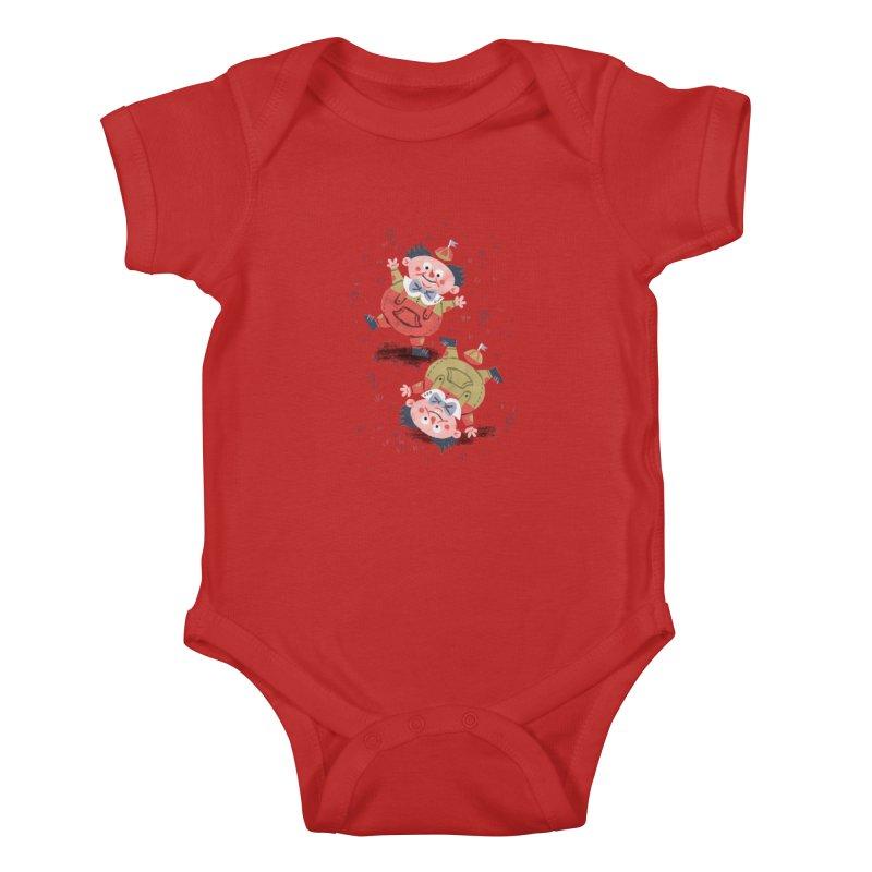 Tweedledum & Tweedledee - Alice in Wonderland Kids Baby Bodysuit by WanderingBert Shirts and stuff