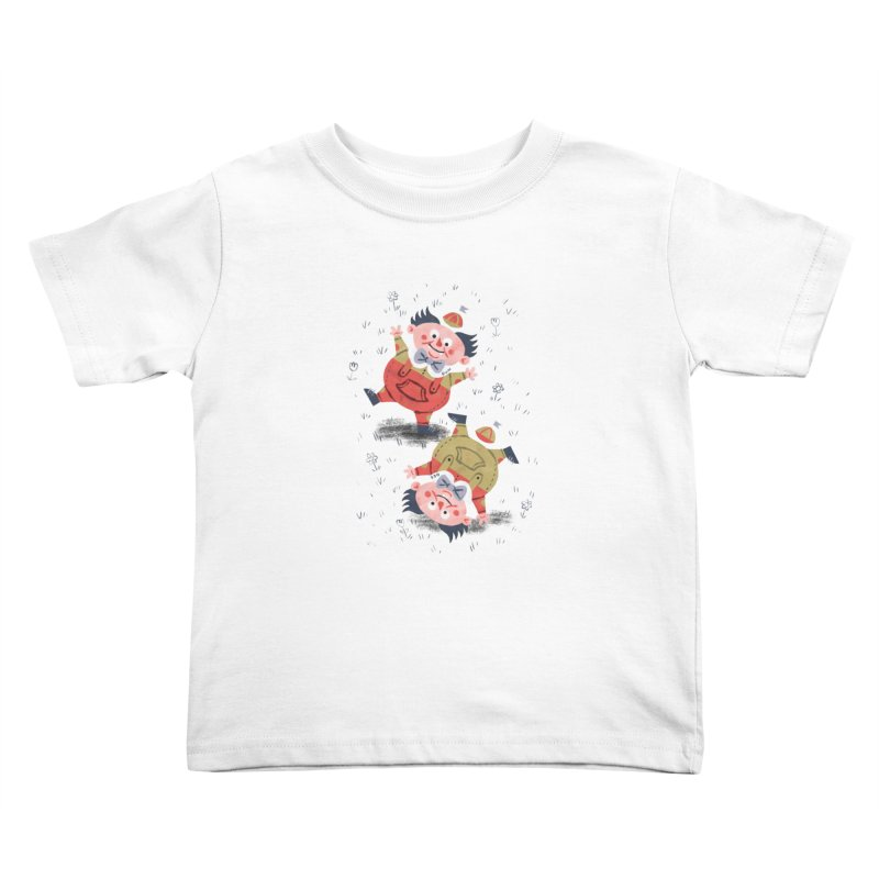 Tweedledum & Tweedledee - Alice in Wonderland Kids Toddler T-Shirt by WanderingBert Shirts and stuff