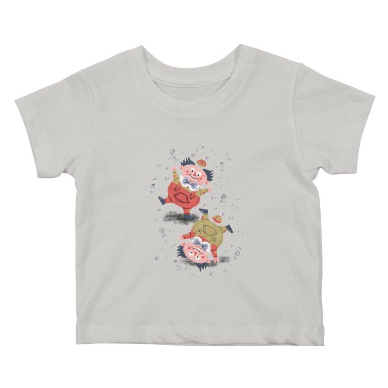 Tweedledum & Tweedledee - Alice in Wonderland Kids Baby T-Shirt by WanderingBert Shirts and stuff