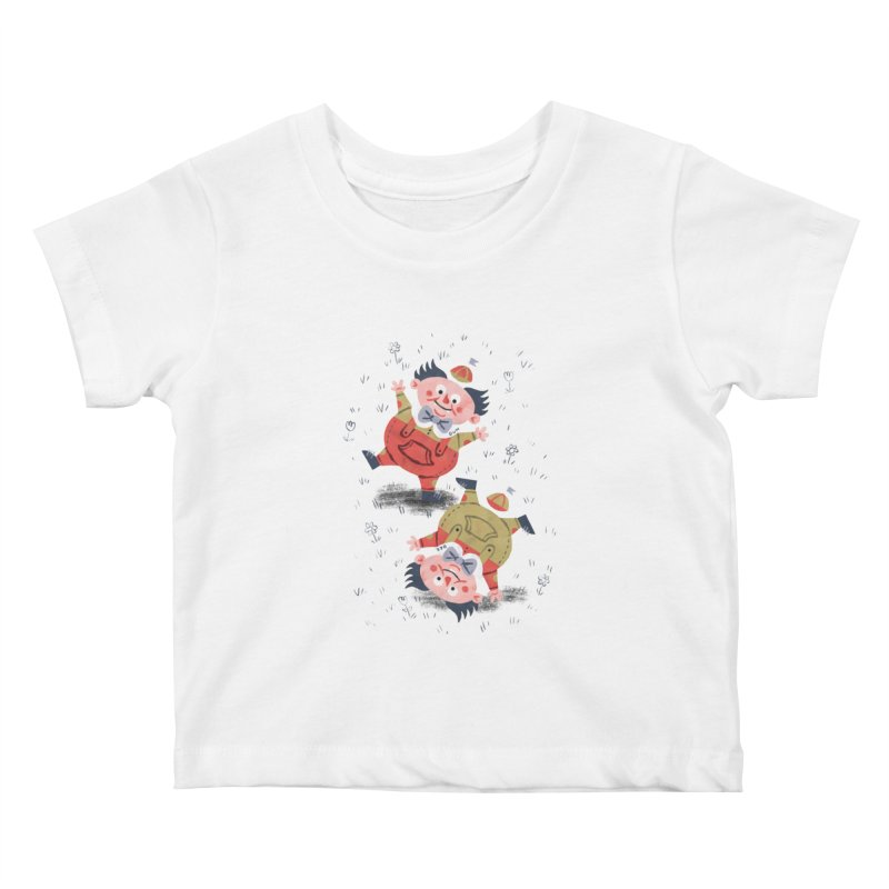 Tweedledum & Tweedledee - Alice in Wonderland Kids Baby T-Shirt by WanderingBert Shirts and stuff