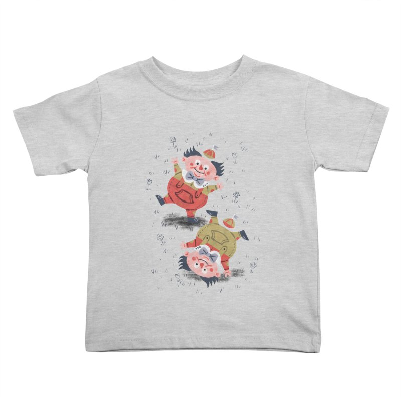 Tweedledum & Tweedledee - Alice in Wonderland Kids Toddler T-Shirt by WanderingBert Shirts and stuff