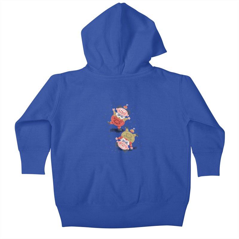 Tweedledum & Tweedledee - Alice in Wonderland Kids Baby Zip-Up Hoody by WanderingBert Shirts and stuff