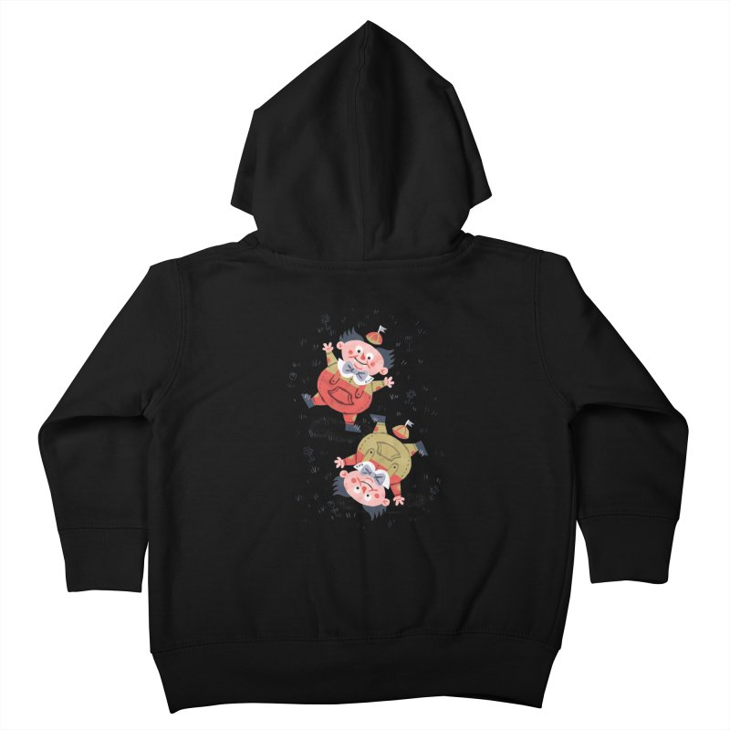 Tweedledum & Tweedledee - Alice in Wonderland Kids Toddler Zip-Up Hoody by WanderingBert Shirts and stuff