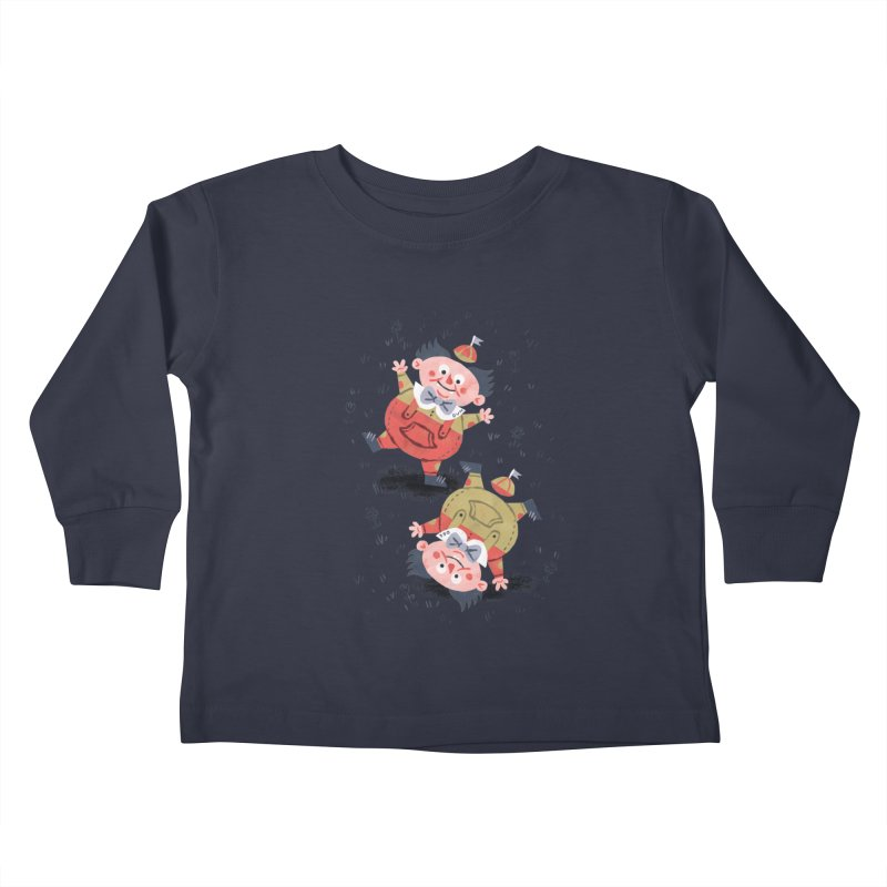 Tweedledum & Tweedledee - Alice in Wonderland Kids Toddler Longsleeve T-Shirt by WanderingBert Shirts and stuff