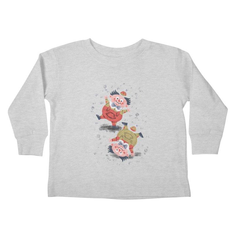 Tweedledum & Tweedledee - Alice in Wonderland Kids Toddler Longsleeve T-Shirt by WanderingBert Shirts and stuff