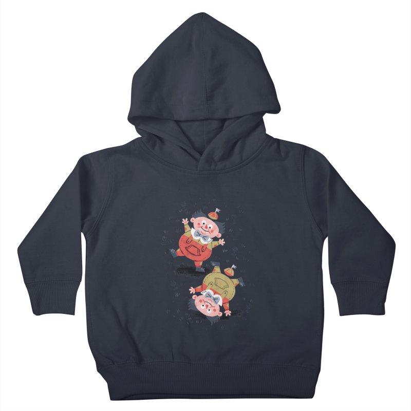 Tweedledum & Tweedledee - Alice in Wonderland Kids Toddler Pullover Hoody by WanderingBert Shirts and stuff