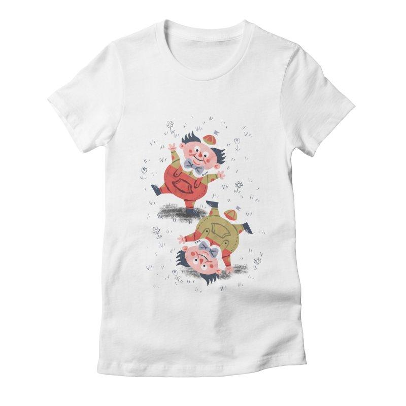 Tweedledum & Tweedledee - Alice in Wonderland Women's Fitted T-Shirt by WanderingBert Shirts and stuff