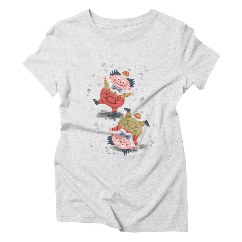Tweedledum & Tweedledee - Alice in Wonderland Women's Triblend T-Shirt by WanderingBert Shirts and stuff