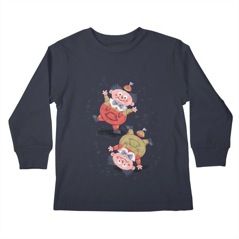 Tweedledum & Tweedledee - Alice in Wonderland Kids Longsleeve T-Shirt by WanderingBert Shirts and stuff