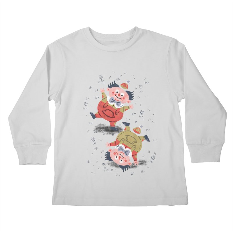 Tweedledum & Tweedledee - Alice in Wonderland Kids Longsleeve T-Shirt by WanderingBert Shirts and stuff