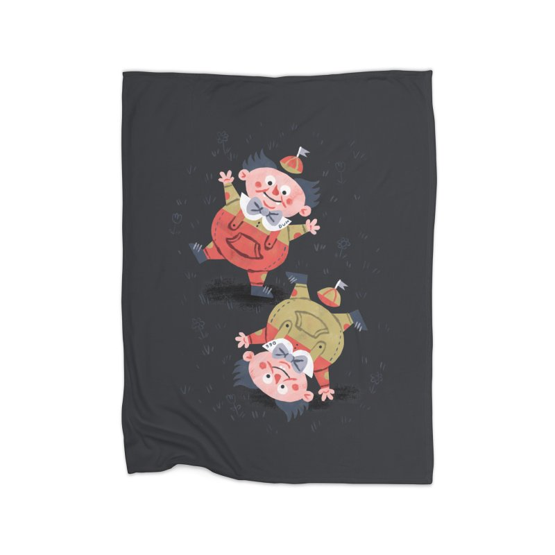 Tweedledum & Tweedledee - Alice in Wonderland Home Blanket by WanderingBert Shirts and stuff