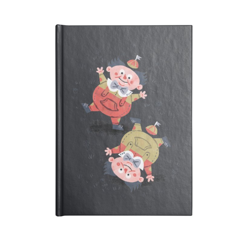 Tweedledum & Tweedledee - Alice in Wonderland Accessories Notebook by WanderingBert Shirts and stuff
