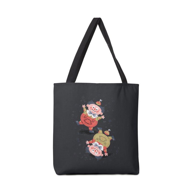 Tweedledum & Tweedledee - Alice in Wonderland Accessories Bag by WanderingBert Shirts and stuff