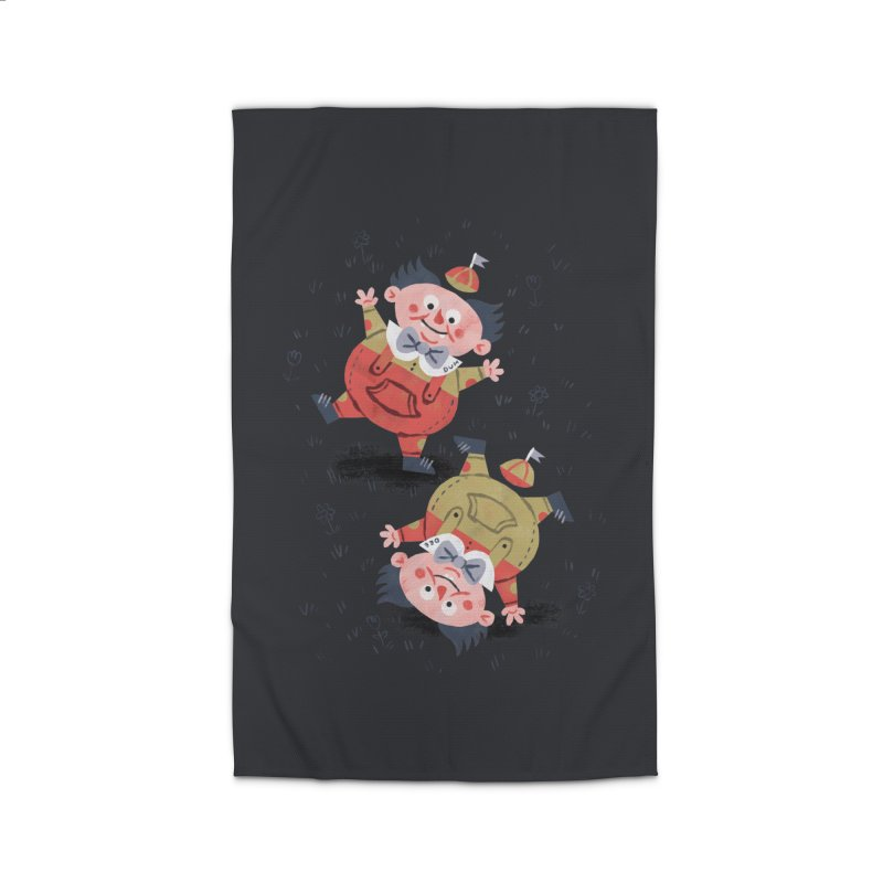 Tweedledum & Tweedledee - Alice in Wonderland Home Rug by WanderingBert Shirts and stuff