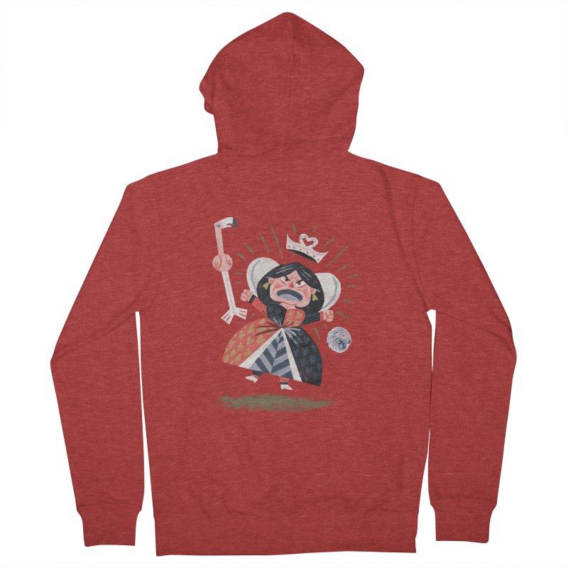 Queen of Hearts - Alice in Wonderland Men's Zip-Up Hoody by WanderingBert Shirts and stuff