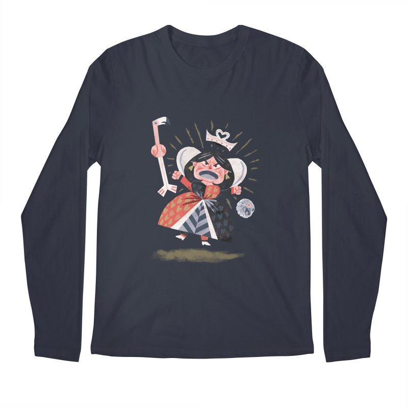 Queen of Hearts - Alice in Wonderland Men's Longsleeve T-Shirt by WanderingBert Shirts and stuff