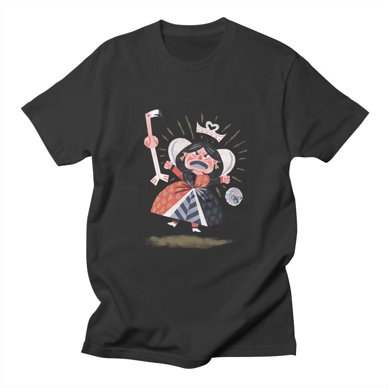 Queen of Hearts - Alice in Wonderland Men's T-shirt by WanderingBert Shirts and stuff