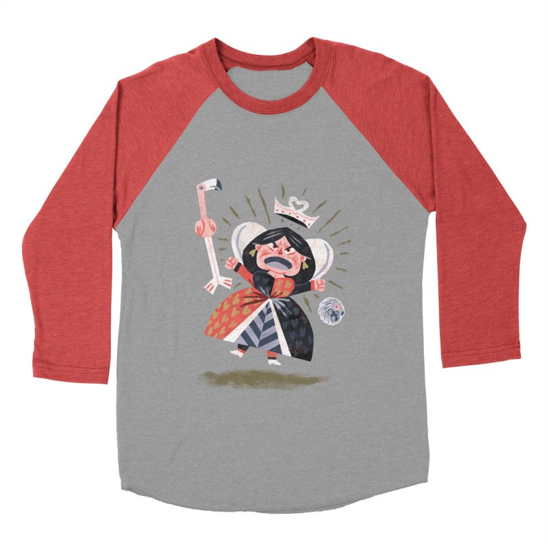 Queen of Hearts - Alice in Wonderland Women's Baseball Triblend T-Shirt by WanderingBert Shirts and stuff