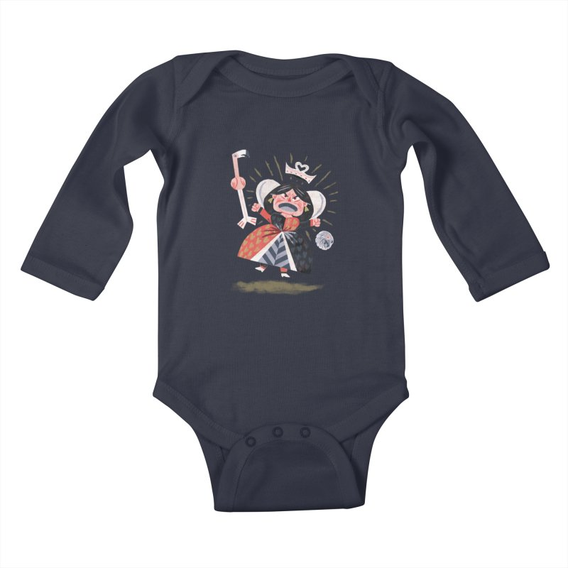 Queen of Hearts - Alice in Wonderland Kids Baby Longsleeve Bodysuit by WanderingBert Shirts and stuff