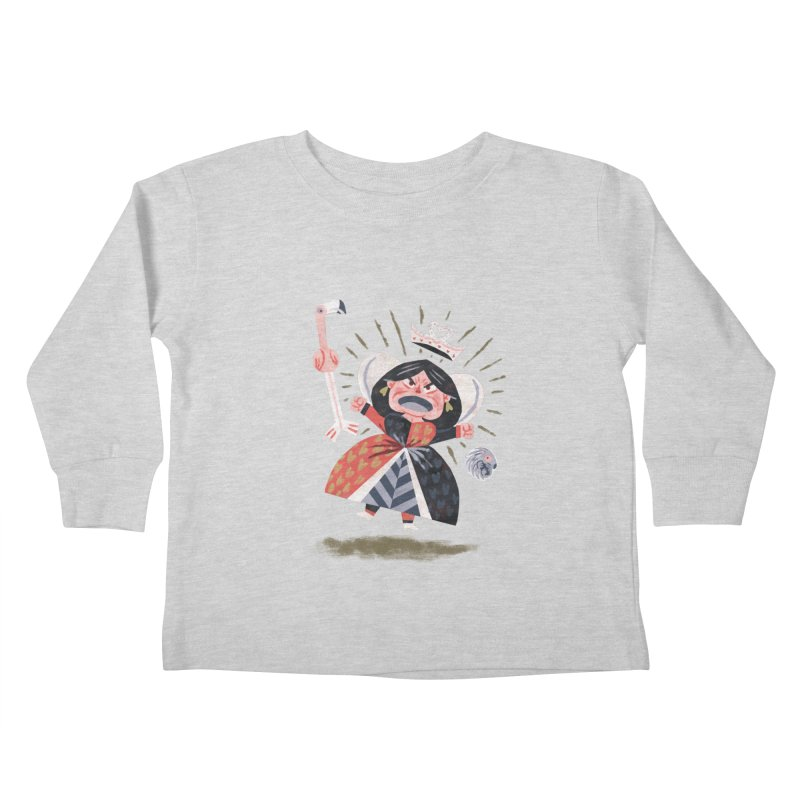 Queen of Hearts - Alice in Wonderland Kids Toddler Longsleeve T-Shirt by WanderingBert Shirts and stuff