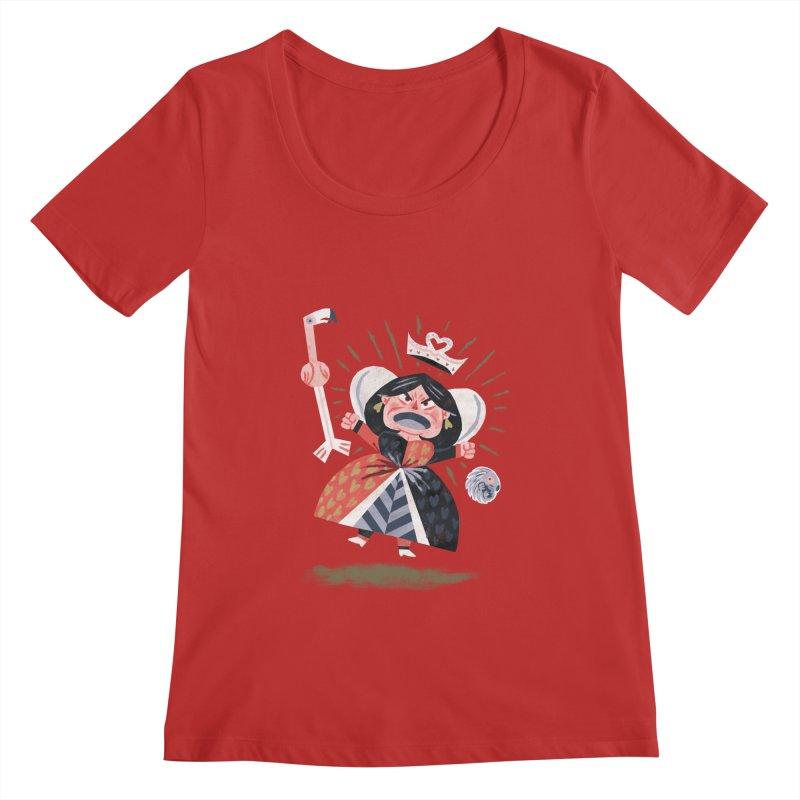 Queen of Hearts - Alice in Wonderland Women's Scoopneck by WanderingBert Shirts and stuff