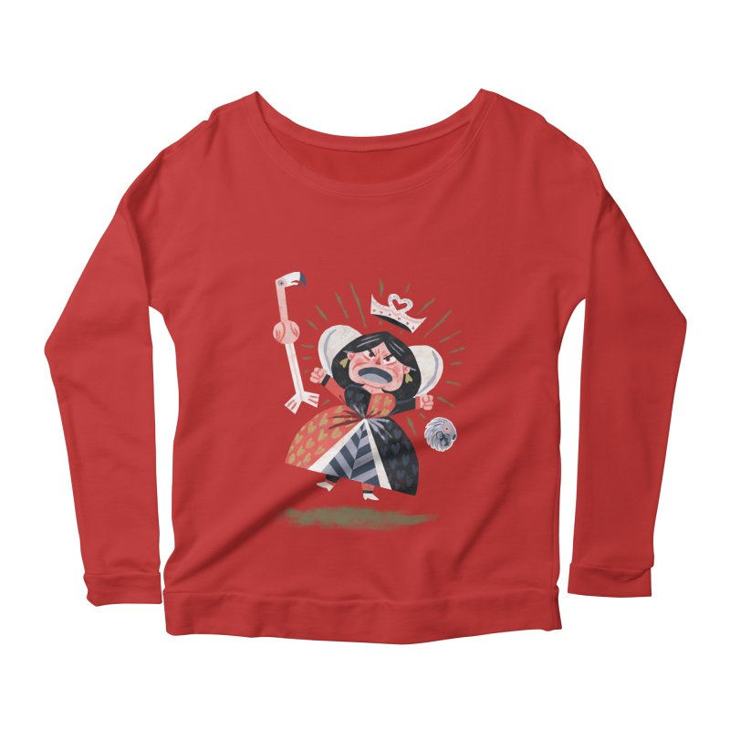 Queen of Hearts - Alice in Wonderland Women's Longsleeve Scoopneck  by WanderingBert Shirts and stuff