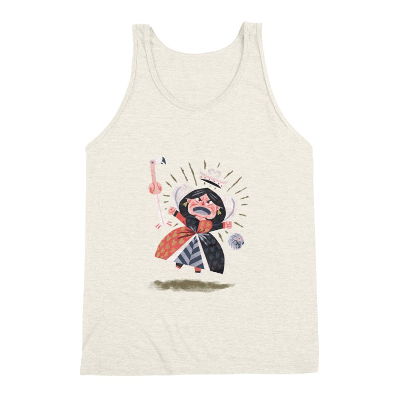 Queen of Hearts - Alice in Wonderland Men's Triblend Tank by WanderingBert Shirts and stuff