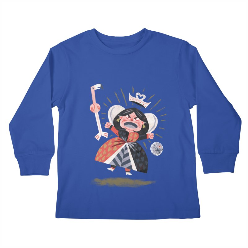 Queen of Hearts - Alice in Wonderland Kids Longsleeve T-Shirt by WanderingBert Shirts and stuff