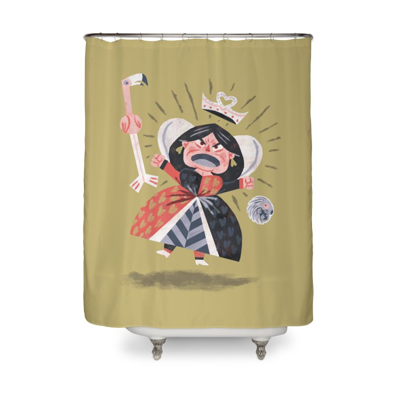 Queen of Hearts - Alice in Wonderland Home Shower Curtain by WanderingBert Shirts and stuff