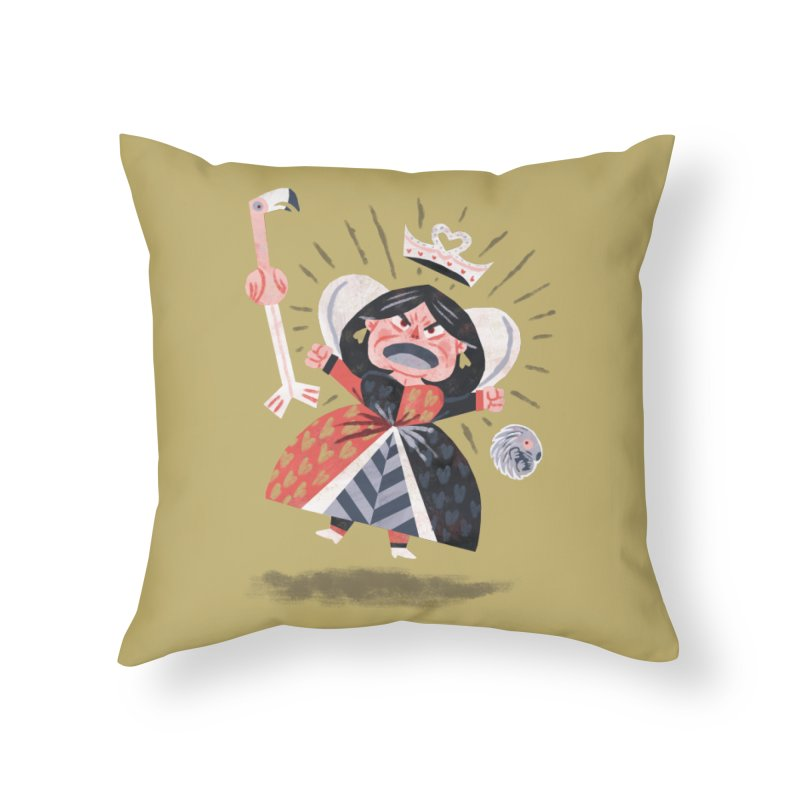Queen of Hearts - Alice in Wonderland Home Throw Pillow by WanderingBert Shirts and stuff