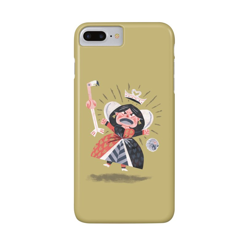 Queen of Hearts - Alice in Wonderland Accessories Phone Case by WanderingBert Shirts and stuff