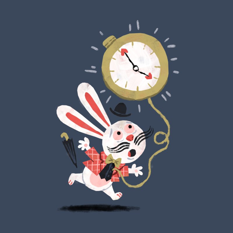 White Rabbit - Alice in Wonderland None  by WanderingBert Shirts and stuff