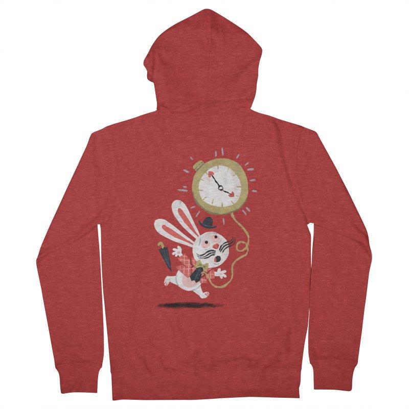 White Rabbit - Alice in Wonderland Women's Zip-Up Hoody by WanderingBert Shirts and stuff