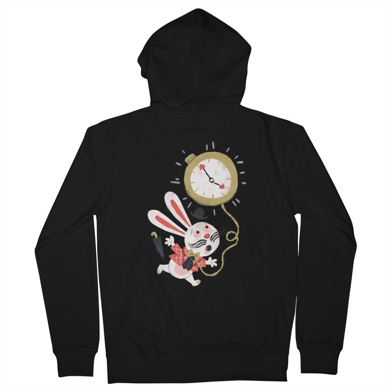 White Rabbit - Alice in Wonderland Women's Zip-Up Hoody by WanderingBert Shirts and stuff
