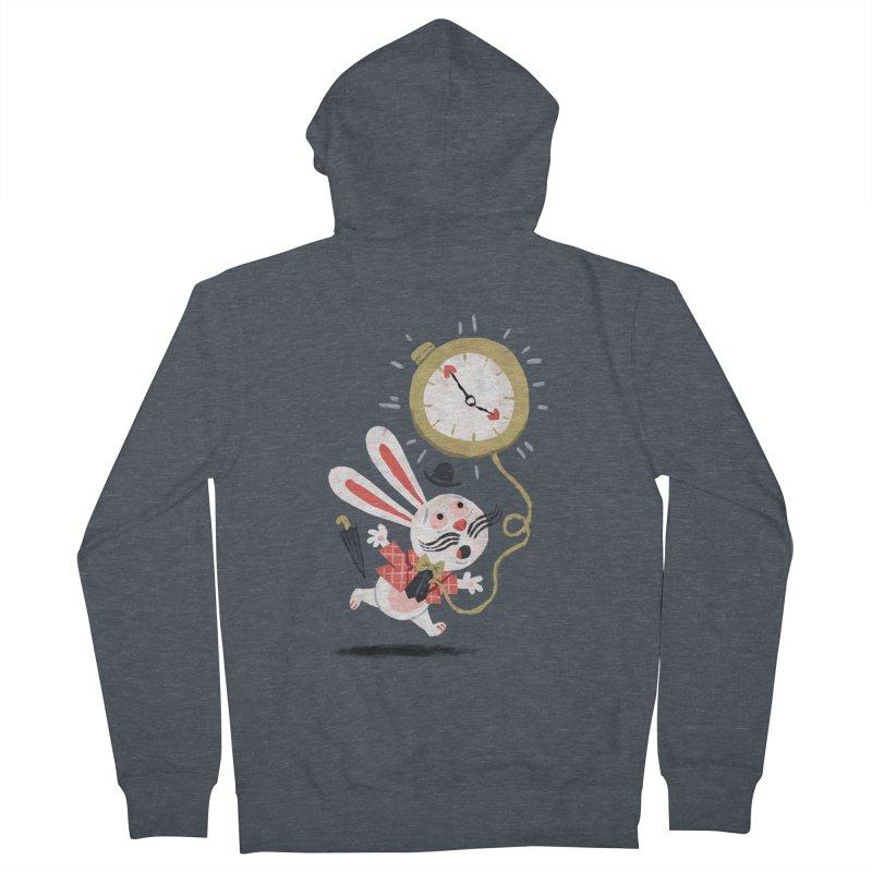 White Rabbit - Alice in Wonderland Men's Zip-Up Hoody by WanderingBert Shirts and stuff