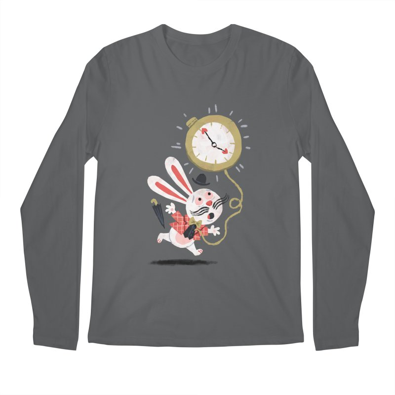 White Rabbit - Alice in Wonderland Men's Longsleeve T-Shirt by WanderingBert Shirts and stuff