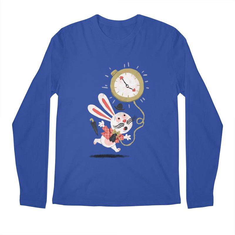 White Rabbit - Alice in Wonderland Men's Longsleeve T-Shirt by WanderingBert Shirts and stuff