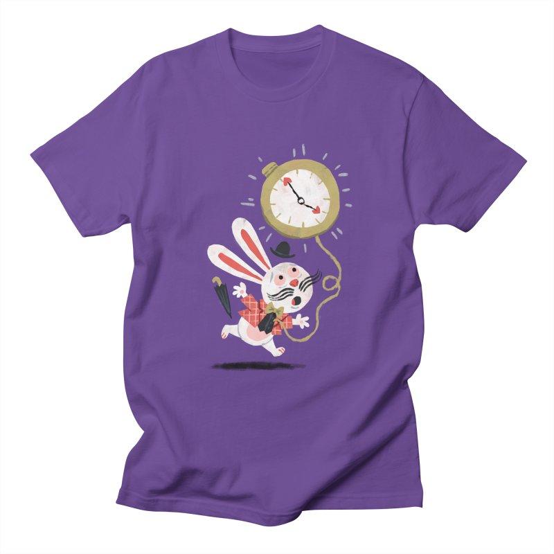 White Rabbit - Alice in Wonderland Women's Unisex T-Shirt by WanderingBert Shirts and stuff