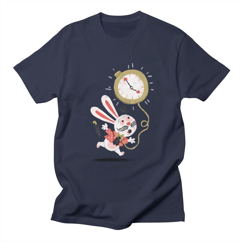 White Rabbit - Alice in Wonderland Men's T-shirt by WanderingBert Shirts and stuff