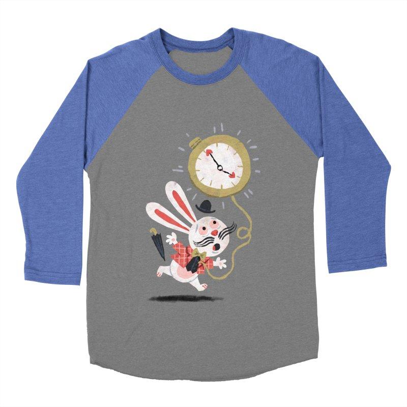 White Rabbit - Alice in Wonderland Men's Baseball Triblend T-Shirt by WanderingBert Shirts and stuff