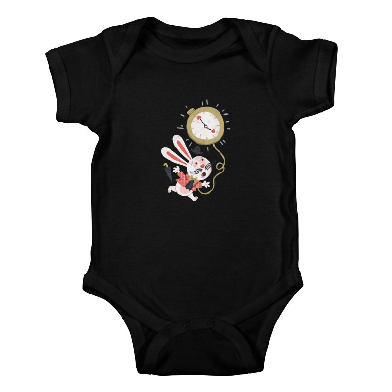 White Rabbit - Alice in Wonderland Kids Baby Bodysuit by WanderingBert Shirts and stuff