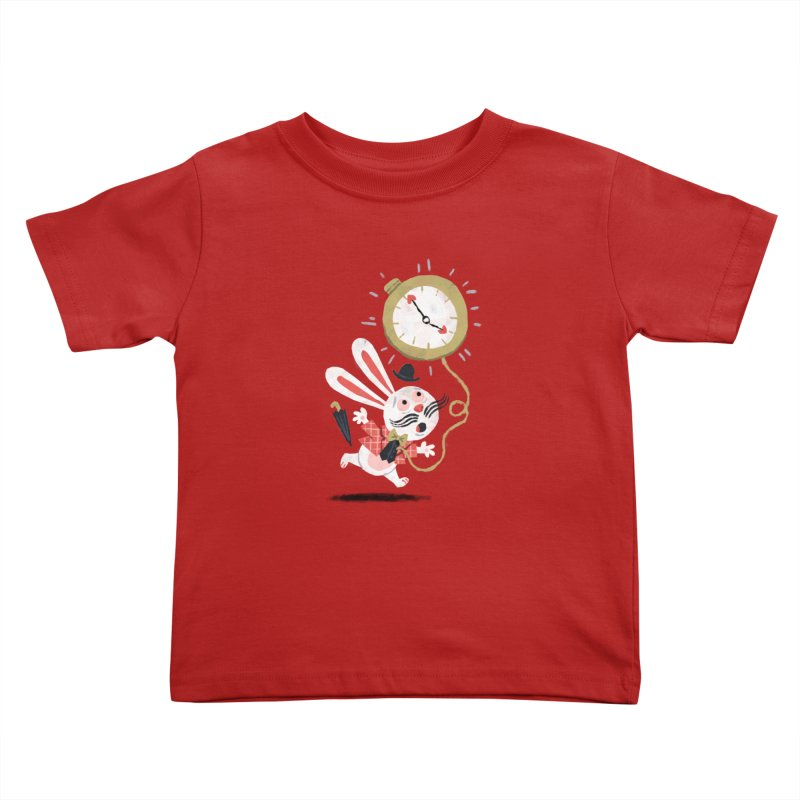 White Rabbit - Alice in Wonderland Kids Toddler T-Shirt by WanderingBert Shirts and stuff