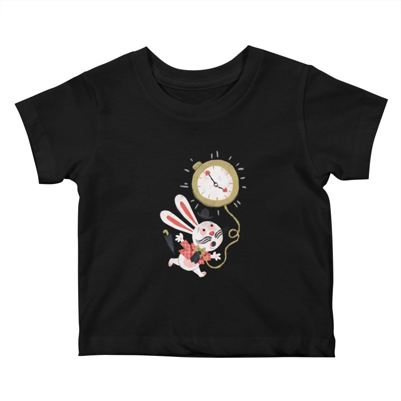 White Rabbit - Alice in Wonderland Kids Baby T-Shirt by WanderingBert Shirts and stuff