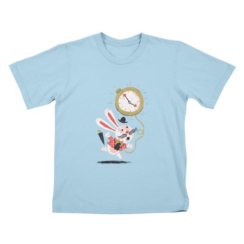 White Rabbit - Alice in Wonderland Kids T-shirt by WanderingBert Shirts and stuff